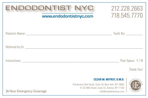 Referring Doctors Endodontist Nyc